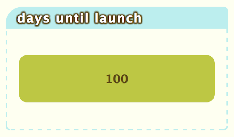 100 days until launch